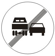 Престанак забране претицања за теретна возила<br>(III-26)