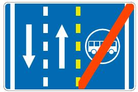 Завршетак  саобраћајне  траке  за  возила  јавног  превоза  путника<br>(III-69.1)