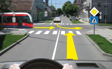 Prvenstvo prolaza u raskrsnici, pravila saobracaja