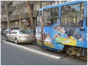 parkiranje na tramvajskim sinama zabranjeno