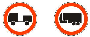 Забрана  саобраћаја  за  моторна  возила  која  вуку  прикључно  возило<br>(II-10) (II-10.1)