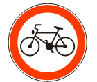 Забрана саобраћаја за бицикле<br>(II-14)