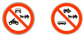 Забрана  саобраћаја  за  возила  означена  симболом<br>(II-19) (II-19.1)