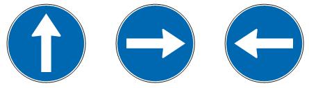 Обавезан смер<br> (II-43), (II-43.1), (II-43.2)