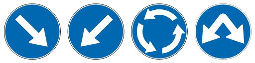 обавезно обилажење<br>(II-45) (II-45.1) (II-45.2) (II-45.3)