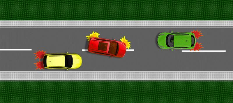 zabranjeno preticanje vozilo iz suprotnog smera