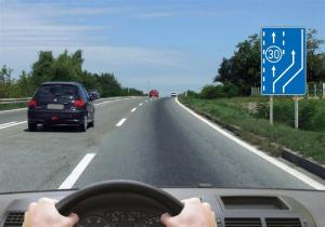 preticanje trakom za spora vozila