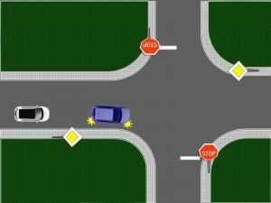 preticanje vozilo skrece udesno