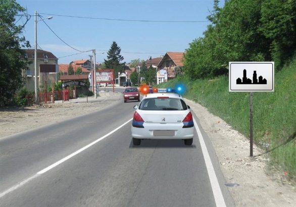 ogranicenje brzine vozila pod pratnjom