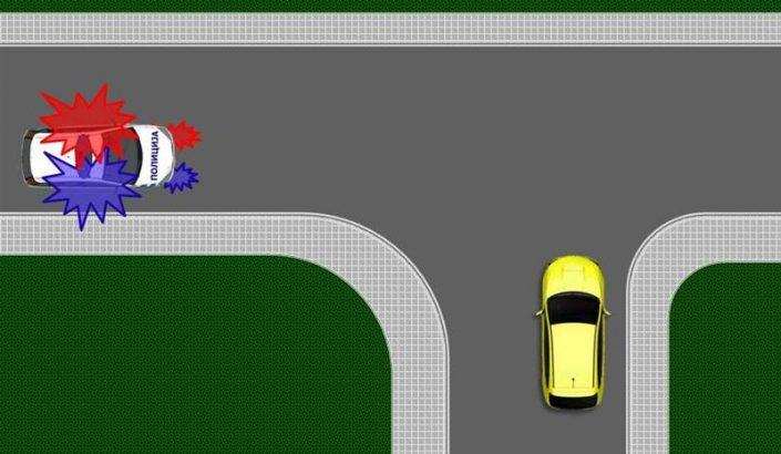 prvenstvo prolaza za vozila pod pratnjom