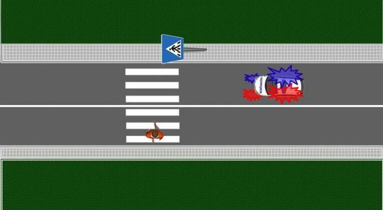 vozilo pod pratnjom propuštanje pešaka